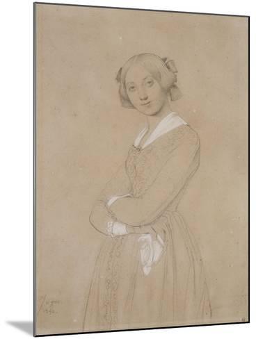 Portrait de la comtesse d'Haussonville. 1842-Jean-Auguste-Dominique Ingres-Mounted Giclee Print