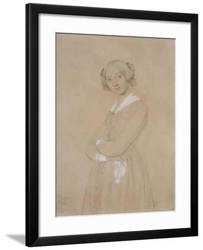 Portrait de la comtesse d'Haussonville. 1842-Jean-Auguste-Dominique Ingres-Framed Art Print