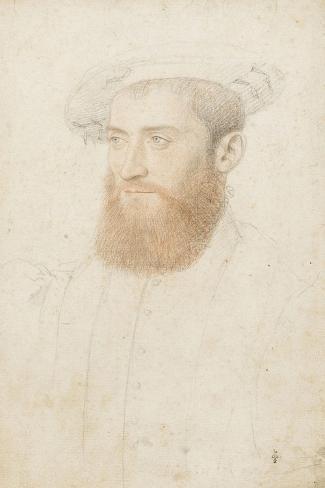 Portrait d'inconnu-Jean Clouet-Stretched Canvas Print