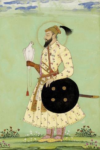 Portrait du prince Mohammed Uu Azzam Shah Alem--Stretched Canvas Print