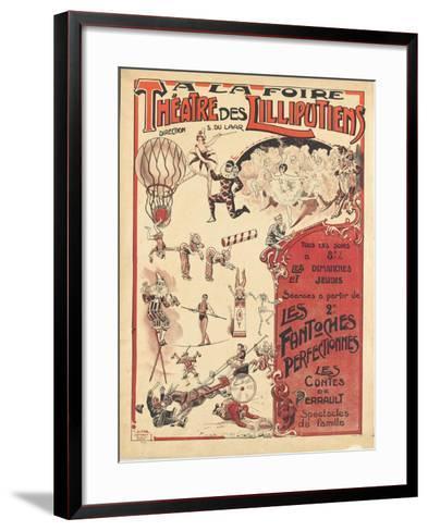 Affiche  la foire théâtre des Lilliputiens--Framed Art Print