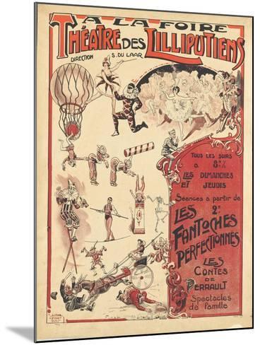 Affiche  la foire théâtre des Lilliputiens--Mounted Giclee Print