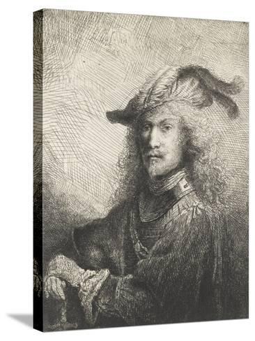 Portrait d'officier-Ferdinand Bol-Stretched Canvas Print