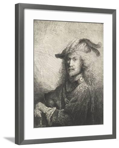 Portrait d'officier-Ferdinand Bol-Framed Art Print