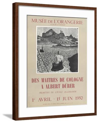 Affiche : Des maîtres de Colognes à Albrecht Dürer--Framed Art Print