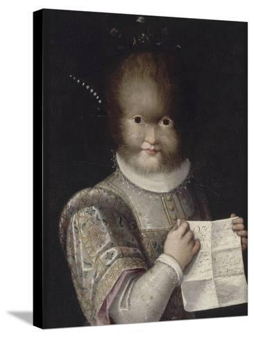 Portrait de Tonetta, fille de Gonsalvo-Lavinia Fontana-Stretched Canvas Print