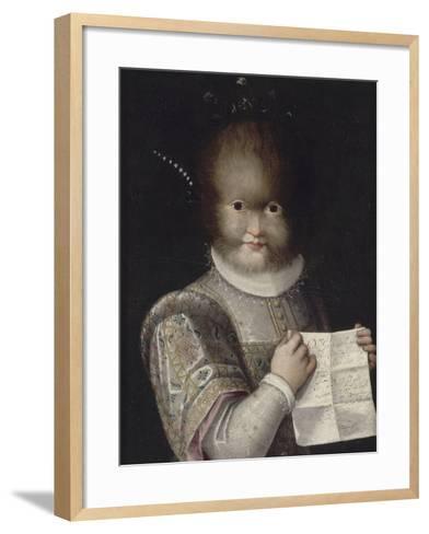 Portrait de Tonetta, fille de Gonsalvo-Lavinia Fontana-Framed Art Print
