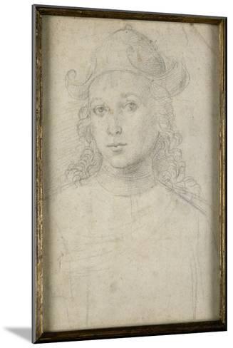 Portrait de jeune homme, en buste, vu de face, coiffé d'un chapeau-Raffaello Sanzio-Mounted Giclee Print