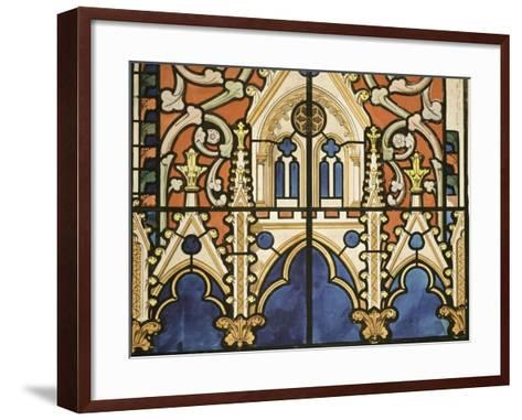 Project for the Windows of the Royal Chapel of Dreux-Eug?ne Viollet-le-Duc-Framed Art Print