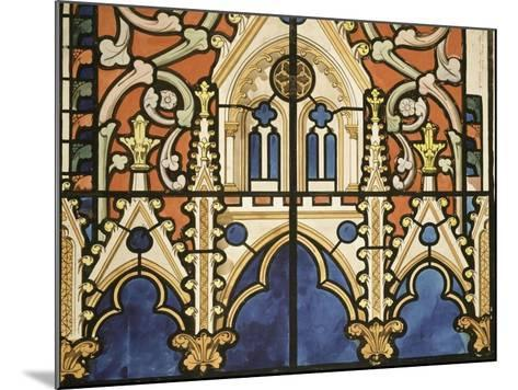 Project for the Windows of the Royal Chapel of Dreux-Eug?ne Viollet-le-Duc-Mounted Giclee Print