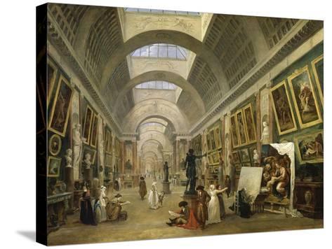 Projet d'aménagement de la Grande Galerie du Louvre en 1796-Hubert Robert-Stretched Canvas Print
