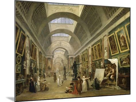 Projet d'aménagement de la Grande Galerie du Louvre en 1796-Hubert Robert-Mounted Giclee Print