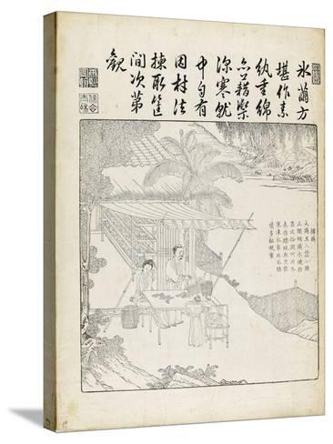 """Recueil du Yuzhi gengzhitu """"tableau du labourage et du tissage""""--Stretched Canvas Print"""