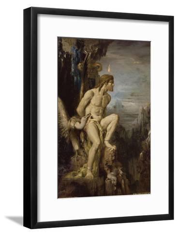 Prométhée-Gustave Moreau-Framed Art Print