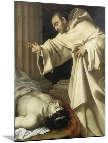 Saint Bernard ressuscitant un mort-Aubin Vouet-Mounted Giclee Print