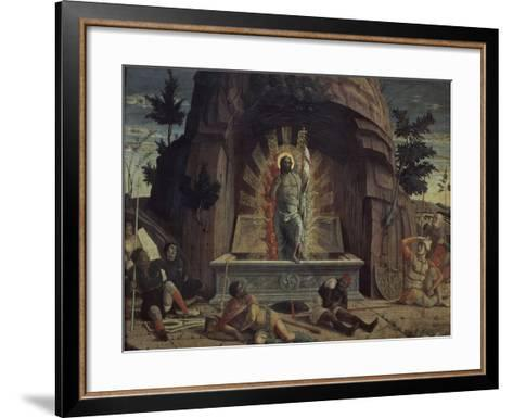 La Résurrection-Andrea Mantegna-Framed Art Print