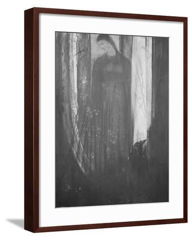 Le corbeau-Odilon Redon-Framed Art Print