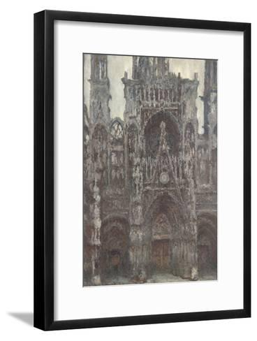 Rouen Cathedral, the Portal Front View, Harmony Brown-Claude Monet-Framed Art Print