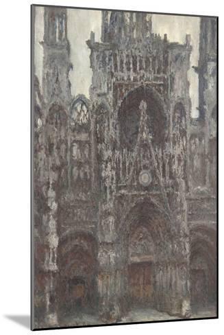 Rouen Cathedral, the Portal Front View, Harmony Brown-Claude Monet-Mounted Giclee Print