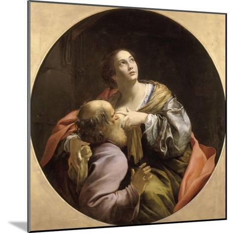 La Charité romaine-Simon Vouet-Mounted Giclee Print
