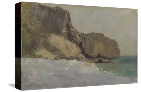 Rochers de Valli?res, pr?s de Royan-Odilon Redon-Stretched Canvas Print
