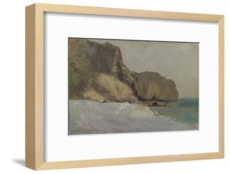 Rochers de Valli?res, pr?s de Royan-Odilon Redon-Framed Art Print
