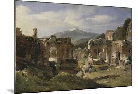 Ruine du théatre de Taormine (Sicile)-Achille Etna Michallon-Mounted Giclee Print