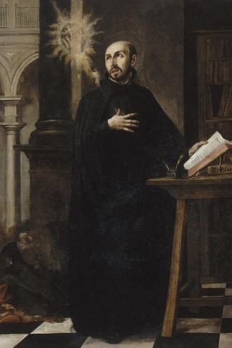 Saint Ignatius of Loyola Received the Name of Jesus-Juan de Valdes Leal-Stretched Canvas Print