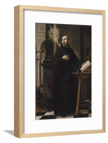 Saint Ignatius of Loyola Received the Name of Jesus-Juan de Valdes Leal-Framed Art Print