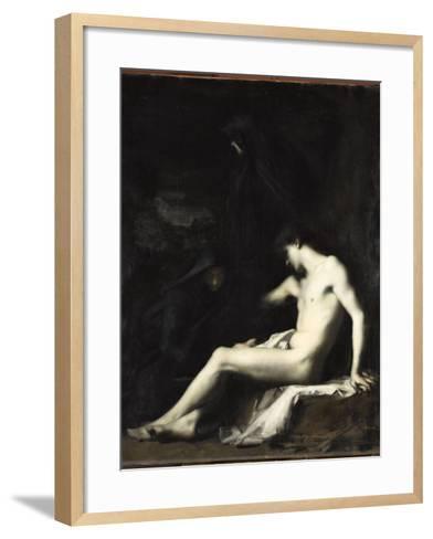 Saint S?bastien-Jean Jacques Henner-Framed Art Print