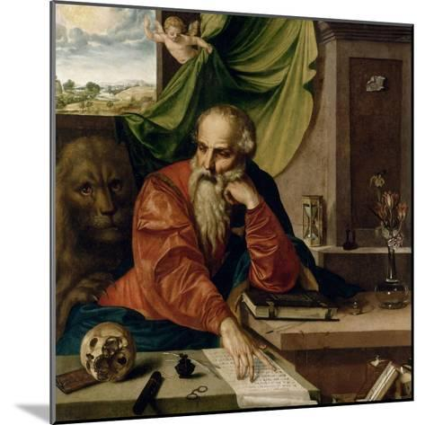Saint Jérôme en méditation-Georg Pencz-Mounted Giclee Print