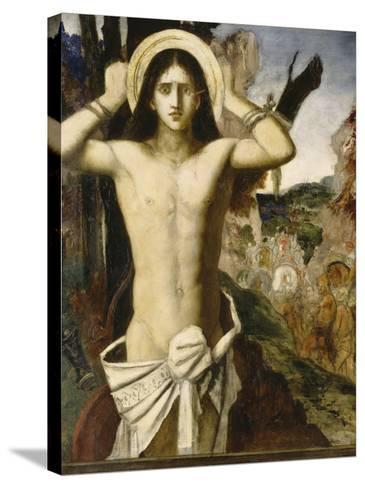 Saint Sébastien-Gustave Moreau-Stretched Canvas Print