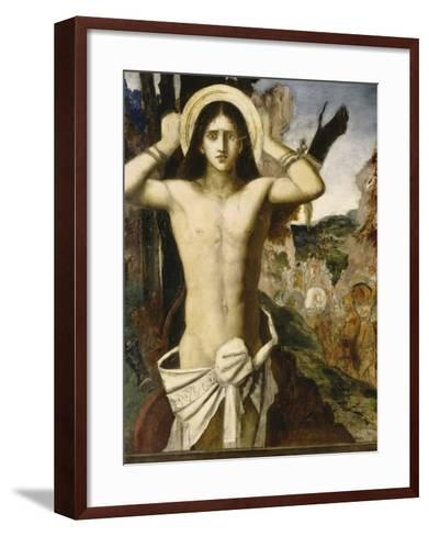 Saint Sébastien-Gustave Moreau-Framed Art Print