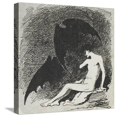 Saint Sébastien mangé par les chauves- souris.-Jean Jacques Henner-Stretched Canvas Print
