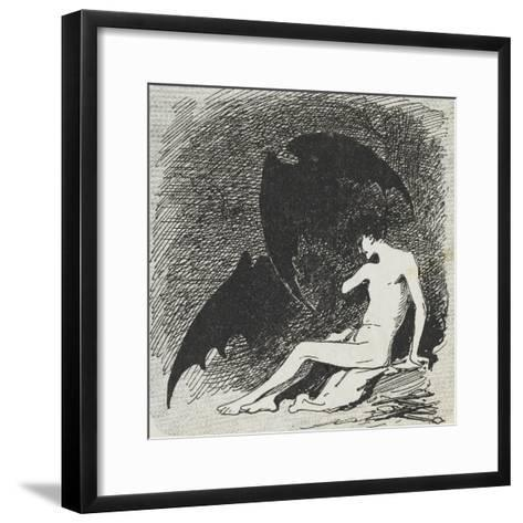 Saint Sébastien mangé par les chauves- souris.-Jean Jacques Henner-Framed Art Print