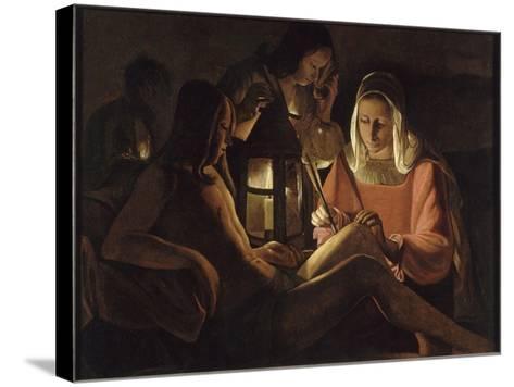 Saint Sébastien à la lanterne-Georges de La Tour-Stretched Canvas Print