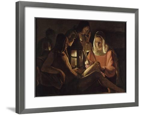 Saint Sébastien à la lanterne-Georges de La Tour-Framed Art Print