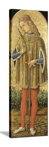 Saint Julien-Vittore Crivelli-Stretched Canvas Print