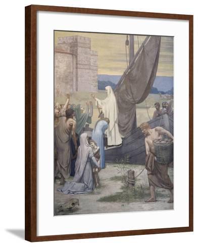 Sainte Geneviève ravitaille Paris assiégé par les Huns d'Attila-Pierre Puvis de Chavannes-Framed Art Print