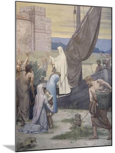 Sainte Geneviève ravitaille Paris assiégé par les Huns d'Attila-Pierre Puvis de Chavannes-Mounted Giclee Print