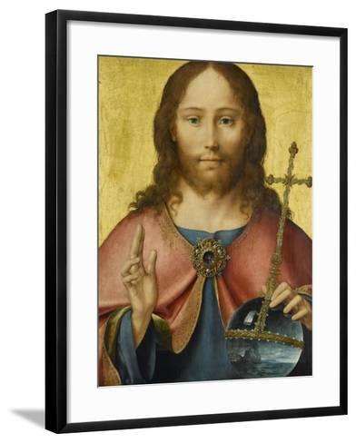Salvator Mundi-Joos Van Cleve-Framed Art Print