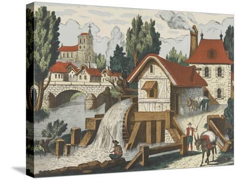 Décor champêtre : le moulin--Stretched Canvas Print