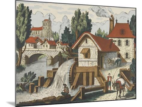 Décor champêtre : le moulin--Mounted Giclee Print