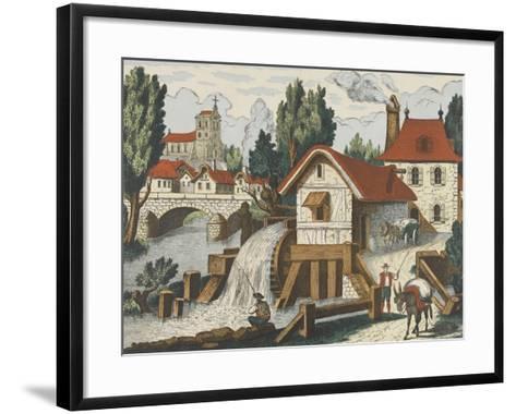 Décor champêtre : le moulin--Framed Art Print