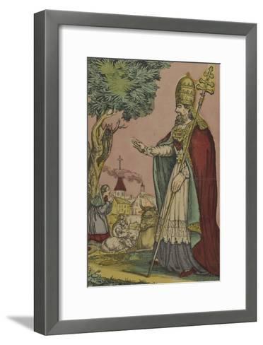 Saint Cornely, protecteur des bestiaux--Framed Art Print