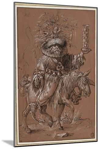"Saint Nicolas sur un âne, costumé en ""Vielfrass"" ou glouton-Jost Amman-Mounted Giclee Print"