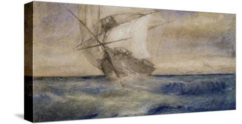 Voilier dans la tempête-Charles Meryon-Stretched Canvas Print