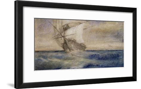 Voilier dans la tempête-Charles Meryon-Framed Art Print