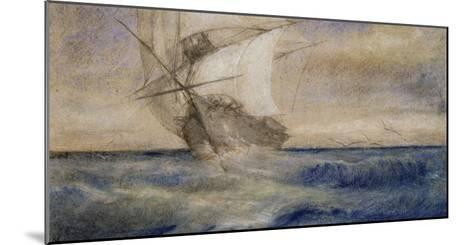 Voilier dans la tempête-Charles Meryon-Mounted Giclee Print