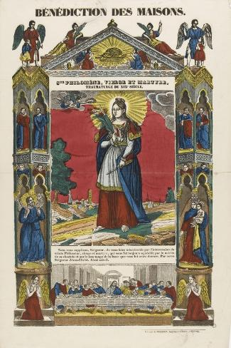 Saint Philomena, Virgin and Martyr, Blessing of Homes--Stretched Canvas Print
